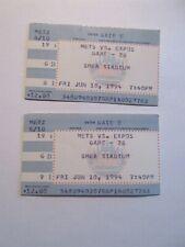 lot of 2 - New York Mets vs. Montreal Expos June 10, 1994 ticket stubs
