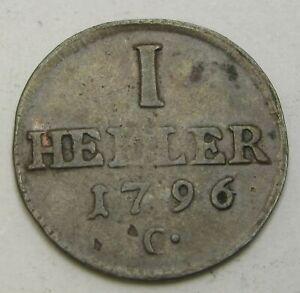 SAXONY ALBERTINE 1 Heller 1796 C - Copper - Friedrich August III. - 2100