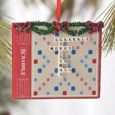Dept. 56 Christmas Hasbro Scrabble Game Ornament Resin Holiday Tree Decor