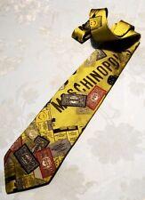 "CRAVATTA UOMO (TIE)  vintage MOSCHINO ""monopoli"" New!  rare"