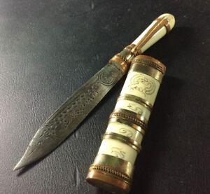Top Magic Amulet LP Derm SWORD Knife Thai Dagger Holy Blade Power Bless Power