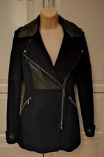 Karen Millen Navy Zipped Jacket Coat Size UK12