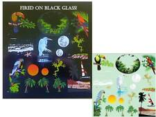 Tropical Color Enamel Water Slide Fused Glass Decals Sheet Low Fire
