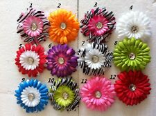 Hair bows Girls Baby Toddler Big Flower Hairbows Boutique Daisy lot 12 CLEARANCE