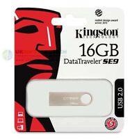 Kingston 16GB Data Traveler Metal Slim SE9 USB Pen Memory FlashDrive DTSE9H/16GB