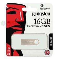 KINGSTON 16GB Data Traveler in Metallo Sottile SE9 USB PEN MEMORIA FLASHDRIVE DTSE 9H/16GB