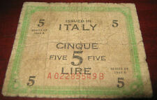 Banconote Europa/Italia Allied Military Currency Issued In Italy 5 Cinque Lire