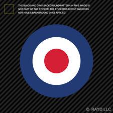 "4"" RAF Roundel Sticker Decal Self Adhesive Vinyl UK Royal Air Force British"