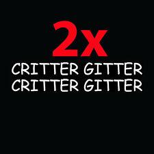 2x CRITTER GITTER Shotgun Barrel Stickers Funny Vinyl Decals Cute Gift Hunter
