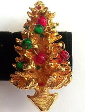 ORIGINAL BY ROBERT CHRISTMAS TREE  BROOCH Dangly Balls  ESTATE JEWELRY GORGEOUS