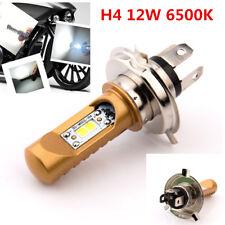 1x H4 12W 6500K White Motorcycle Headlight Bulb LED Headlamp High/Low Beam Lamp