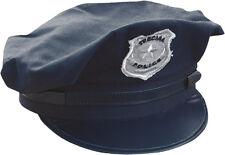 Mütze American COP Polizei Agent Special Polizist Cap dunkelblau blau/silber neu