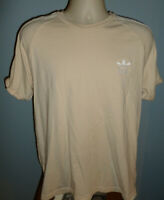 Adidas Three Stripped Trefoil Ringer T-Shirt Large L
