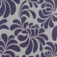 Glitter Wallpaper Floral Embossed Vinyl Sparkle White Purple Paste The Wall