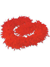 """Red Feather Boa 72"""" 6 FT 60 Grams Chandelle Costume Dress-up Holiday Party"""