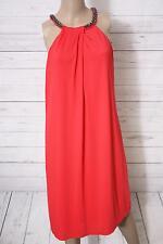 ESPRIT Collection Damen Neckholder Kleid mit Stretch, Knielang, Gr. M, Rot