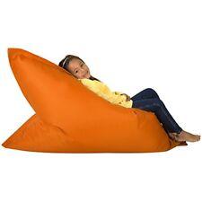 Kids X Large Bean Bag Floor Cushion Childrens Beanbag Indoor / Outdoor ORANGE