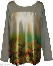 **NEU** Aniston !! Blusen- Shirt GR. 44 (42) / grau+bunt / Oversize / 558274