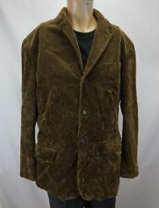 Vintage Polo Ralph Lauren Corduroy Jacket Blazer Brown Men's Large