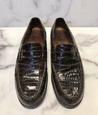 J.M. Weston Crocodile Men's Loafers Shoes