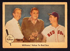 1959 FLEER TED WILLIAMS #75 WILLIAMS' VALUE TO RED SOX W/BABE RUTH EDDIE COLLINS