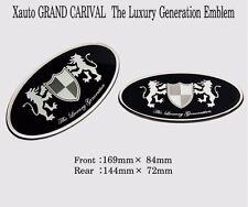 Art X Generation Front + Rear EMBLEM Badge 2EA for KIA Sedona 2006 2014