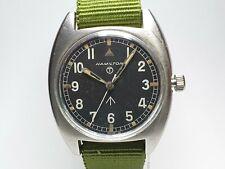 Vintage Hamilton W10 British Military Manual Winding Watch c1973