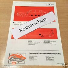 Audi Typ C1 100 L, LS, GL ab 1968-, Terotex Hohlraumversiegelungsplan