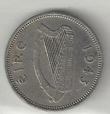 IRELAND, 1943, THREE PENCE,  KM#12a, COPPER NICKEL,  EXTRA FINE