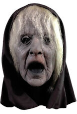 The Wraith Mask Ghostly Moaning Spirit Creepy Halloween Mask With Hair & Hood