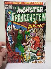 The Monster of Frankenstein #3  1973 Marvel