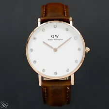 Daniel Wellington Model: 0950DW ST MAWES Material: Leder Farbe: Braun / Rotgold
