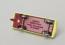 Matchbox Lesney MB 39 Pontiac Convertible - SPW, Crimson Base, Red St Wheel