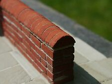 25 Multi Red Half Round Copings Miniature Bricks