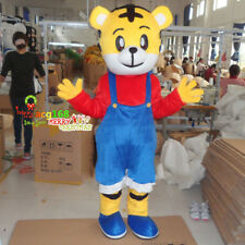 Tiger Mascot Costume Adult Cosplay Suit Animal Parade Cartoon Party Dress Outfit