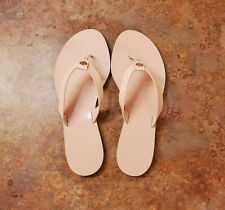 New! Tory Burch 'Manon' Flip Flop Sandals Pink Leather Womens 8.5 M MSRP $158