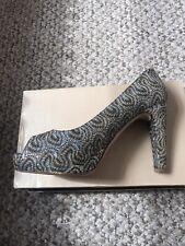 Dune Houston Sparkly Peep Toe Shoes 6