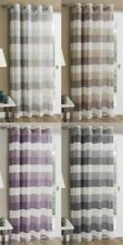 Polyester Striped Contemporary Window Curtains