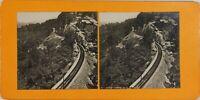 Suisse Cologny Chemin Da Ferro Del Righi , Foto Stereo Vintage Analogica