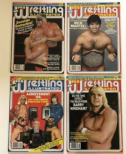 Pro Wrestling Illustrated Magazine Lot of 4 Road Warriors Ric Flair Roddy Piper