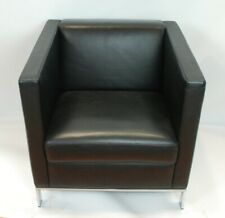 Walter Knoll Norman Foster single seater armchair in black leather