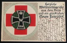 1914 Germany Feldpost WWI Christmas Postcard cover To Ansbach