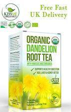 Pack of 20 Raw Organic Dandelion Root Tea Detox Kiss Me Organics | Antioxidant