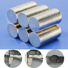 20pcs N35 Super Strong Disc Magnet 15mm x 1mm Craft Rare Earth Neodymium Magnets