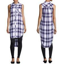 Rails Women's Small Plaid Hi-Low Side Split Tunic NWT $148