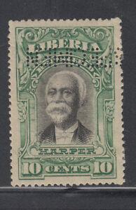 Liberia # F12 SPECIMEN in Perforated Letters 1903 Registration Set