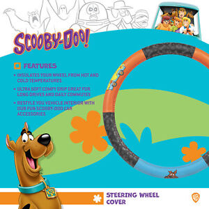 Mystery Machine Scooby Doo Car Steering Wheel Cover Orange Blue