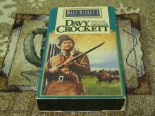 ~WALT DISNEY~DAVY CROCKETT~KING OF THE WILD FRONTIER~FESS PARKER~BUDDY EBSEN~VHS