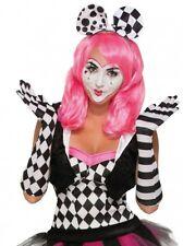 arlecchino donna clown OPERA LUNGO GUANTI ACCESSORIO VESTITO ADULTO TAGLIA UNICA