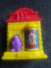 vintage McDonalds toy with Ronald McDonald, Grimace and Birdie. FREE SHIPPING.
